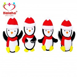 آویز درخت کریسمس هیاهو مدل Penguin مجموعه 4 عددی